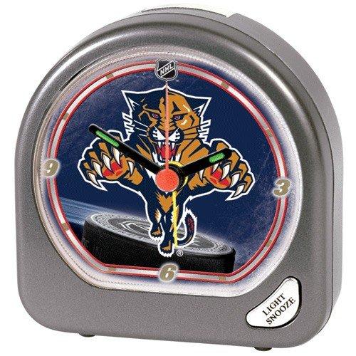 Florida Panthers Clock - WinCraft NHL Florida Panthers Alarm Clock, Black