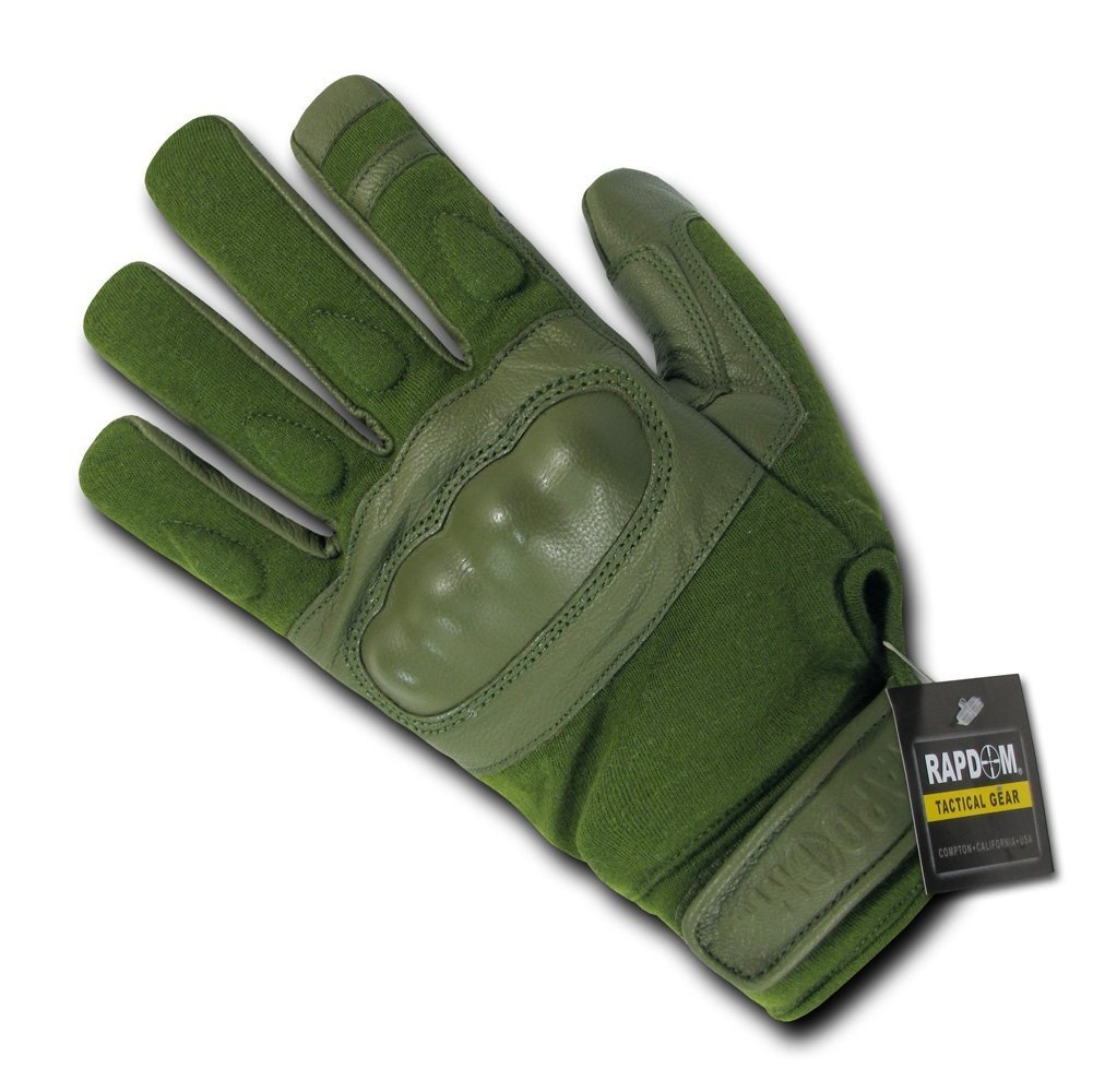 Rapdom Tactical Nomex Knuckle Gloves Color: Olive Size: Large