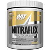 GAT - NITRAFLEX - Testosterone Enhancing Powder, Increases Blood Flow, Boosts Strength and Energy, Improves Exercise Performance, Creatine-Free (Piña Colada, 30 Servings)