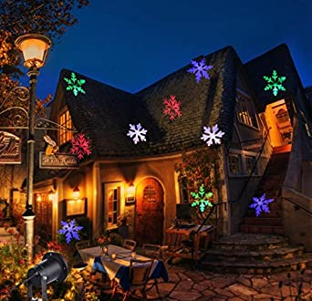 christmas projector led light moving snowflakes waterproof sparkling landscape spotlight for outdoor decor stage holiday garden home wall decoration