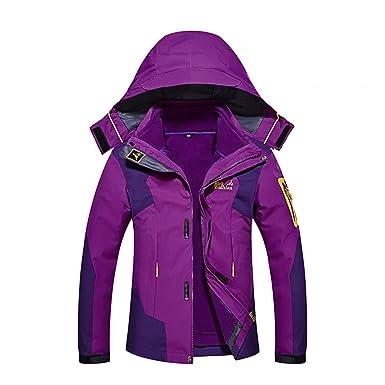 Windproof Womens Snow Ski Jacket Winter Snowboard Waterproof Rain Skiing  Jackets for Adults Hooded 3- b7b6a21d1