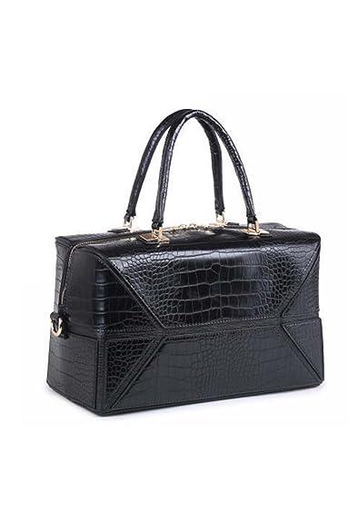 arrive grande variété de styles pas cher à vendre Sac à main aspect crocodile style valise se porte à la main ...