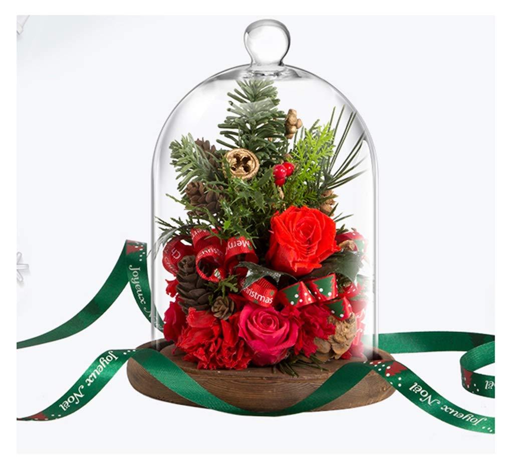 HARDY-YI クリスマスギフト永遠の花のガラスカバーローズギフトボックスリアルフラワー永遠の花 - 永遠の花 995 B07R44XH1S