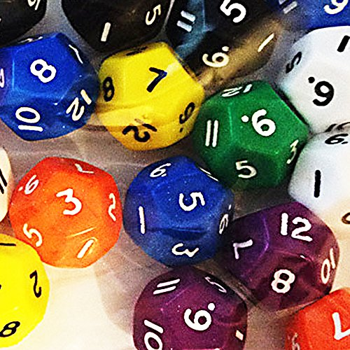 12-sided dice (pack of 12) - 12 Side Dice