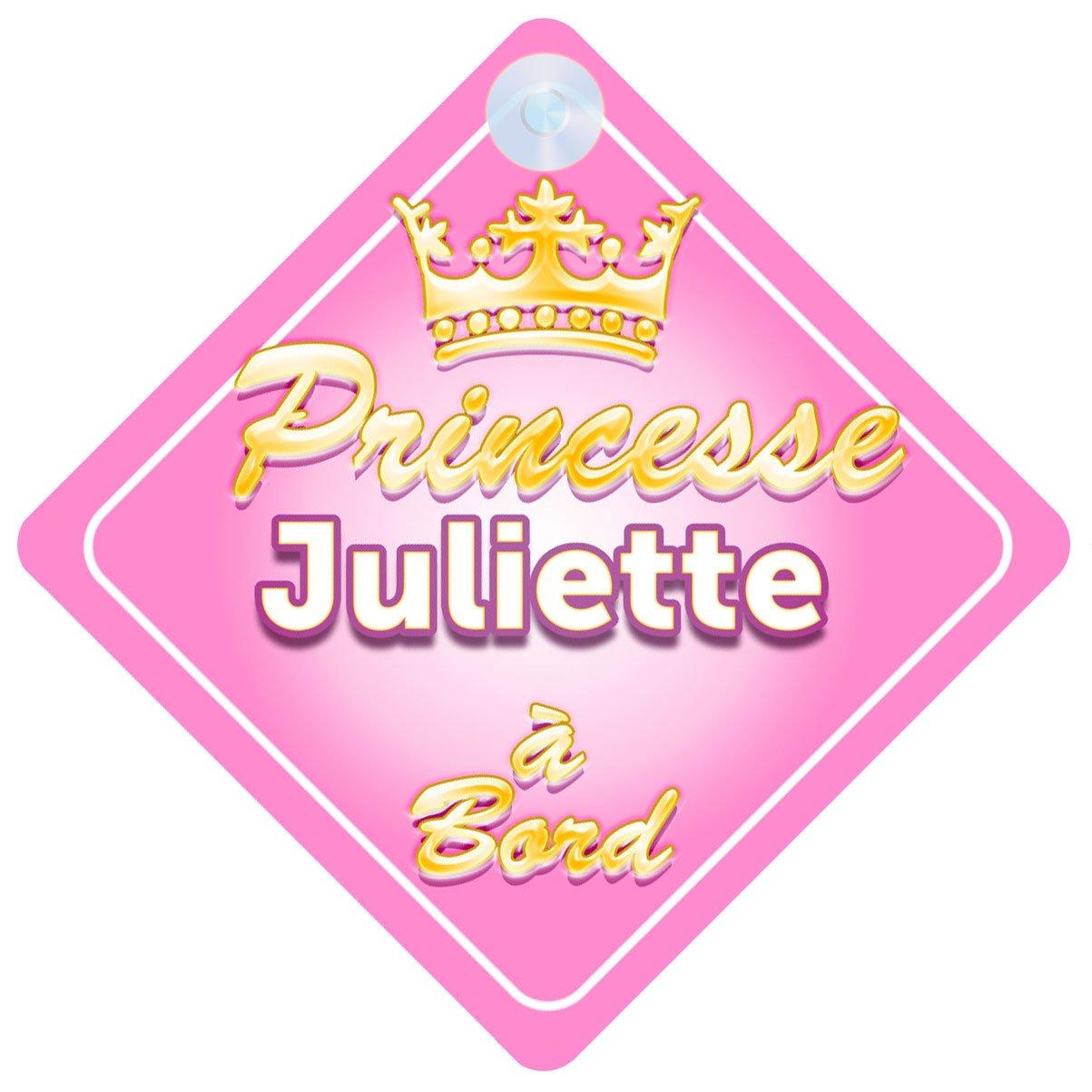 Couronne Princesse Juliette Signe Pour Voiture Enfant/Bébé à Bord Quality Goods Ltd