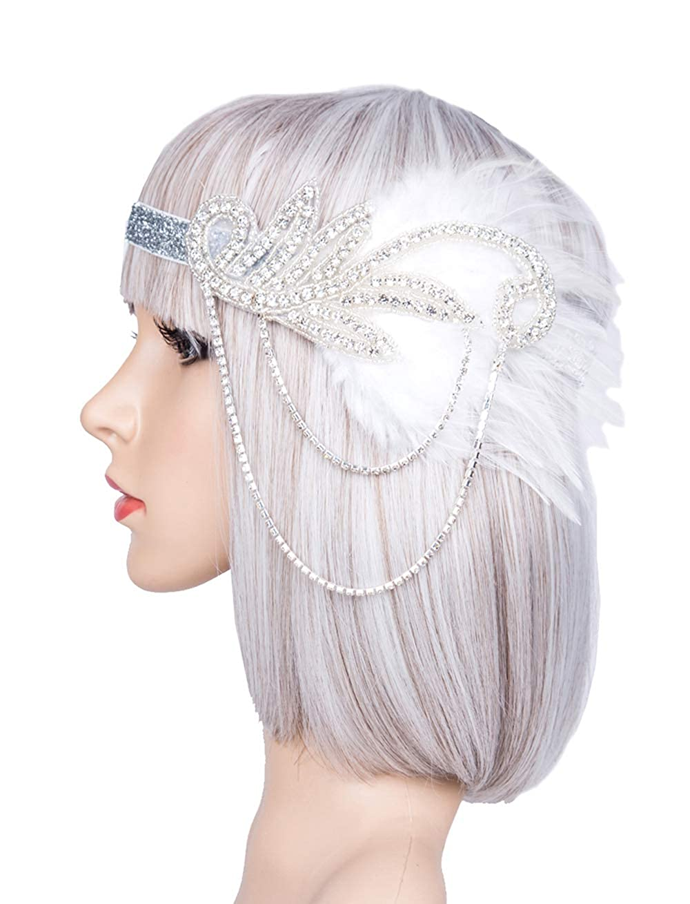 Silver 20s Headpiece Vintage 1920s Headband Flapper Great Gatsby 20s Accessories