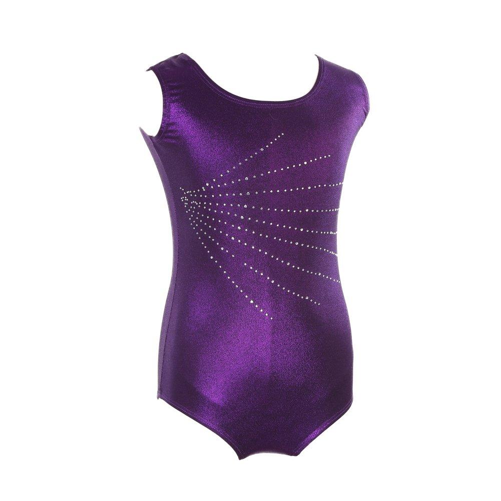 Moresave Filles Ballet Danse Justaucorps Sans Manches Gymnastique Classe Costume Dancewear