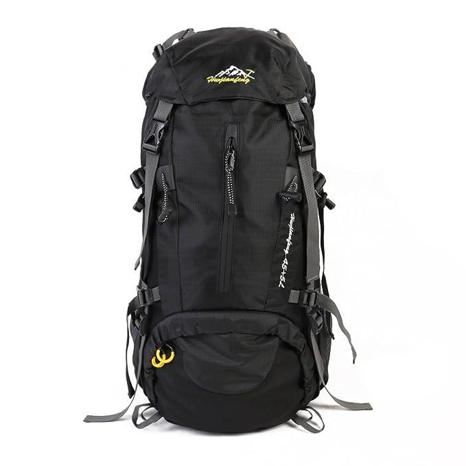 Grandes 50 Litros Mochila De Senderismo Multifunción Travel Camping Rucksack Bolsa De Equipaje De Vacaciones,Black-30 * 20 * 60cm: Amazon.es: Ropa y ...