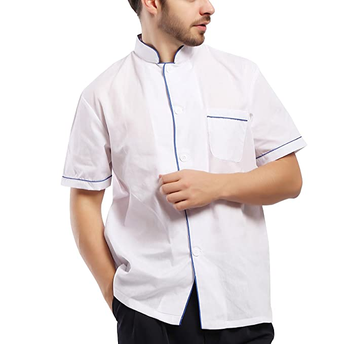 Tinksky Chefs Jacke Chef Uniform Koch Küche Work Wear Unisex Kurzarm ...