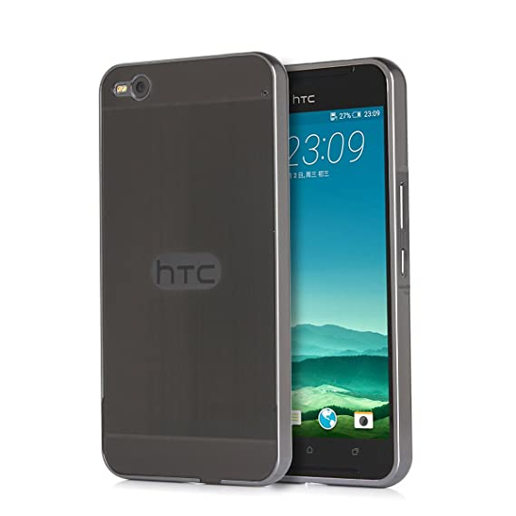 reputable site f4a3f 5daa3 HTC One X9 Case, Moonmini Aluminum Metal Frame Bumpe with Slim Hard Back  Case Cover for HTC One X9 - Black