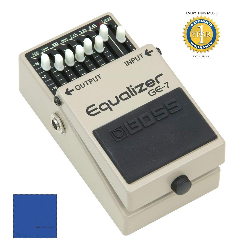 Boss GE-7 7-Band Graphic Equalizer Pedal with 1 Year Free Extended Warranty