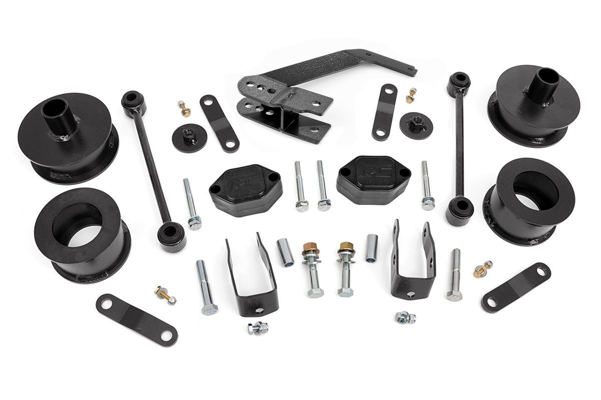Rough Country 2.5'' Suspension Lift Kit for 07-18 Jeep Wrangler and Wrangler Unlimited JK - 635