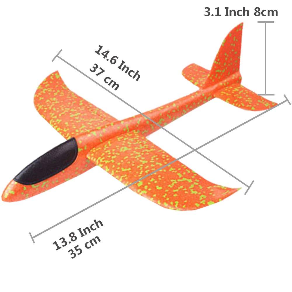 3 piezas Avi/ón de espuma de poliestireno,juguete para ni/ños Planeador lanzamiento al aire libre Planeador de espuma lanzamiento manual Modelo de vuelo Equipo de juego Regalo para Ni/ño Ni/ña Cumplea/ños