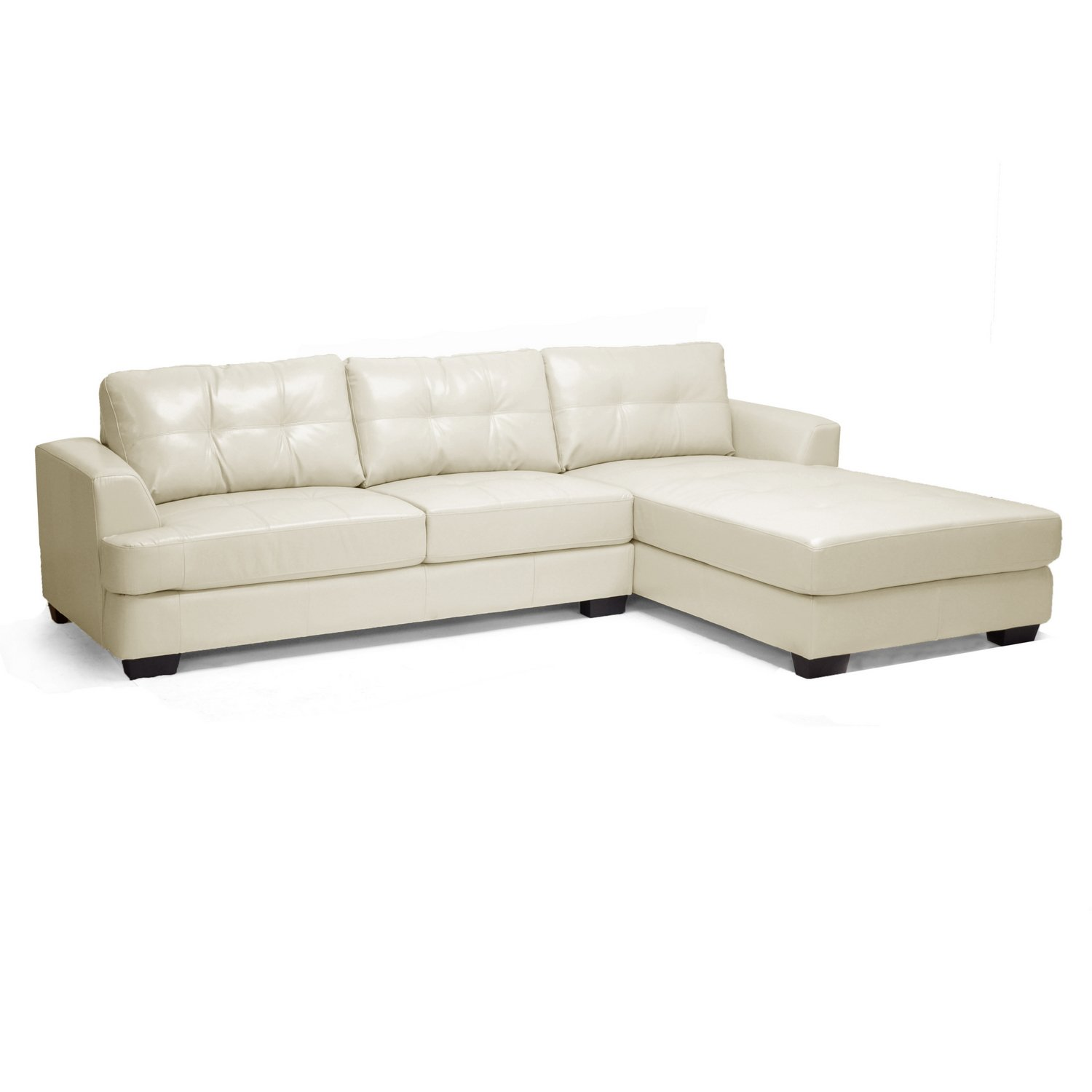 Amazon Baxton Studio Dobson Leather Modern Sectional Sofa