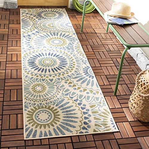 Safavieh Veranda Collection VER091-0614 Indoor/ Outdoor Cream and Green Contemporary Area Rug (2'7