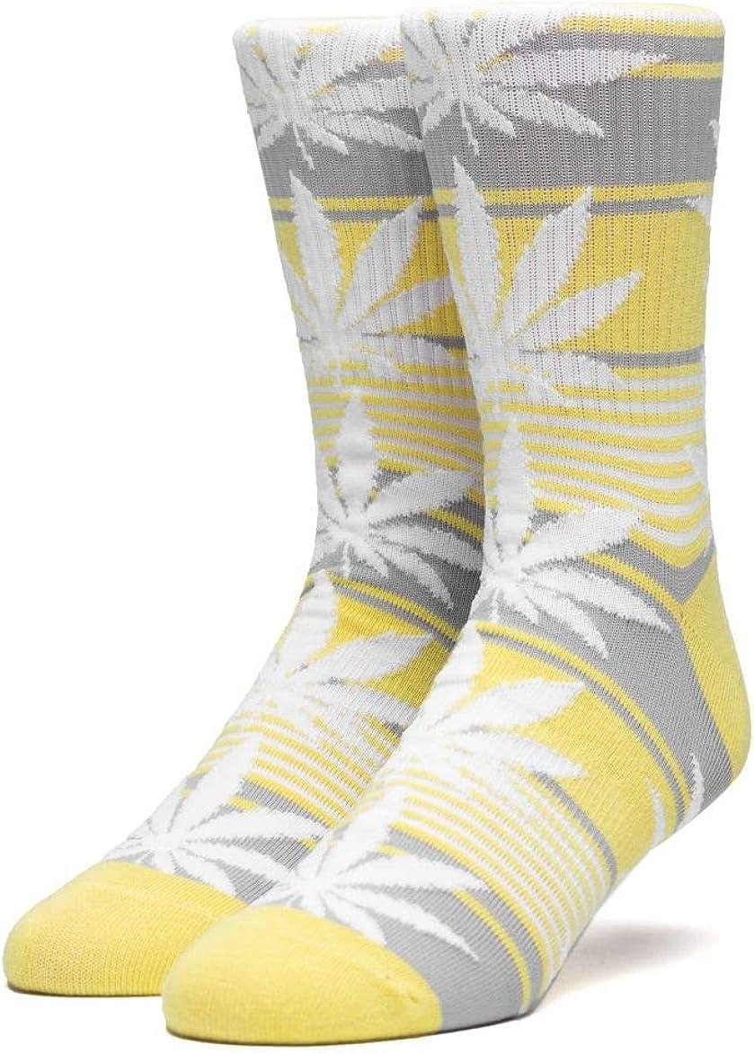 Huf Mens Plantlife Full Melange Sock Aurora Yellow OFA