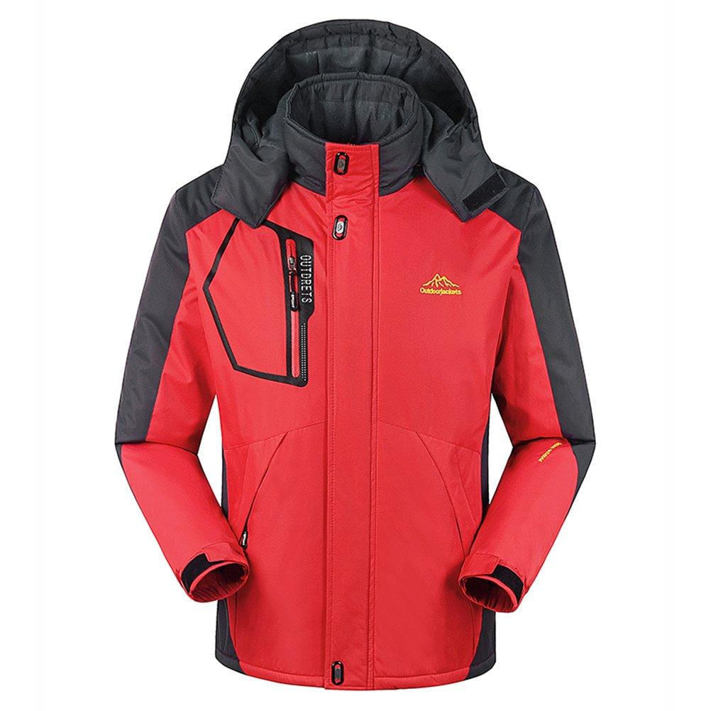 MAGCOMSEN Men's Waterproof Mountain Ski Jacket Windproof Fleece Jacket MCS828-24