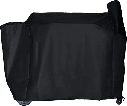 Amazon Com Bbq Butler Full Length Grill Cover Fits Traeger 34 Series And Texas Heavy Duty Smoker Cover Black Garden Outdoor