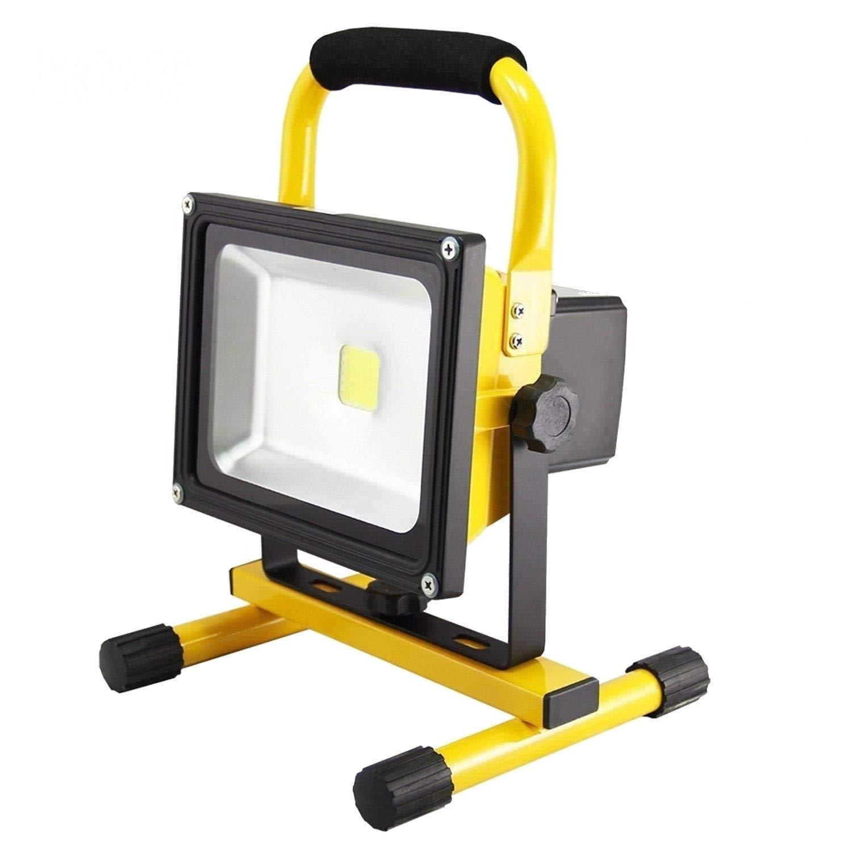 risposte rapide FROADP FROADP FROADP 50W Bianco Freddo Proiettore LED ricaricabile - Lampada da lavoro a LED per proiettori - Lampada da campeggio a luce rampicante per pesca gialla  comprare sconti