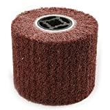 CSLU 120mmx100mm Non-Woven Abrasive Polishing Wheel 80 Grit Nylon Scouring Pad