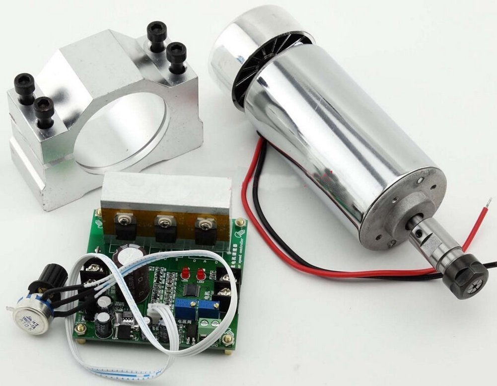 TOPCHANCES CNC Item 0.4KW Spindle Motor ER11 Mach3 PWM Speed Controller with Mount 3.175mm (Ships via DHL)