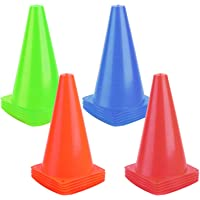 9 Inch Sports Cones, Basketball Cones, Traffic Training Cones, Agility Field Marker Cones for Soccer Football Drills…