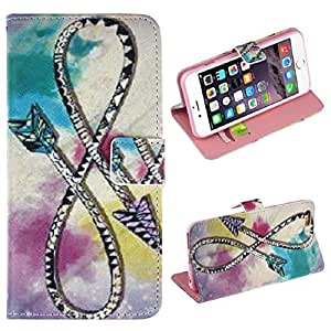 Doinshop New Useful Cute Nice Flip Stand Leather Cover Case For iPhone 6 Plus 5.5 inch (Anchor)