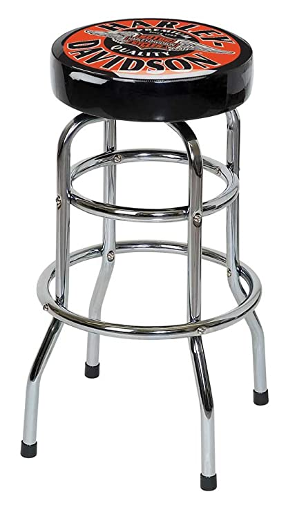 Brilliant Harley Davidson Winged Bar Shield Bar Stool Chrome Plated Hdl 12135 Squirreltailoven Fun Painted Chair Ideas Images Squirreltailovenorg