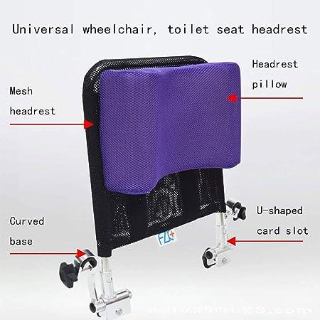 Reposacabezas de silla de ruedas - Soporte de cuello Acolchado ajustable para la cabeza, Accesorios de silla de ruedas portátiles universales para adultos ...
