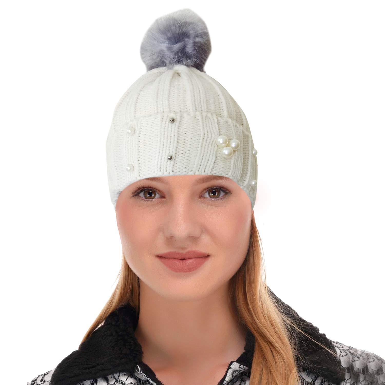 34356b91e6492d Malvina Fashion Winter Warm Beanie Cap Girl Women Snow Hat Skullies B-1177:  Amazon.in: Clothing & Accessories