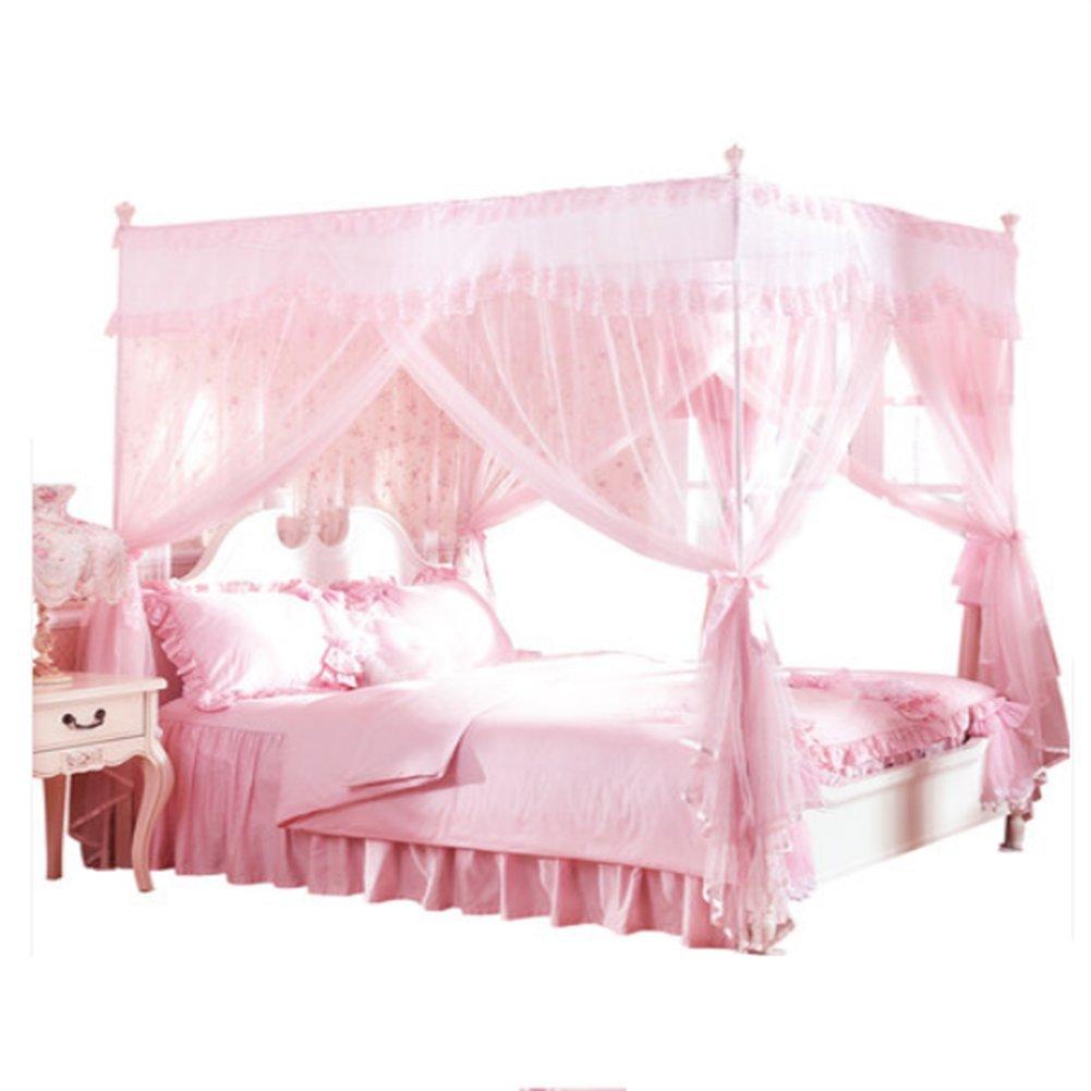 LSS M Moskitonetze 1,5 M Bett/1,8 M LSS Bett Student Single Doppel-Dreifach-Tür Profil Nach Hause,1.82M 76a56b