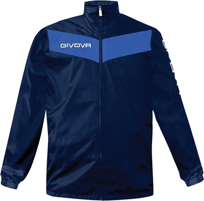 Givova Rain Jacket Basico Uomo RJ001 NERO Giacca Impermeabile Sport Ginnastica