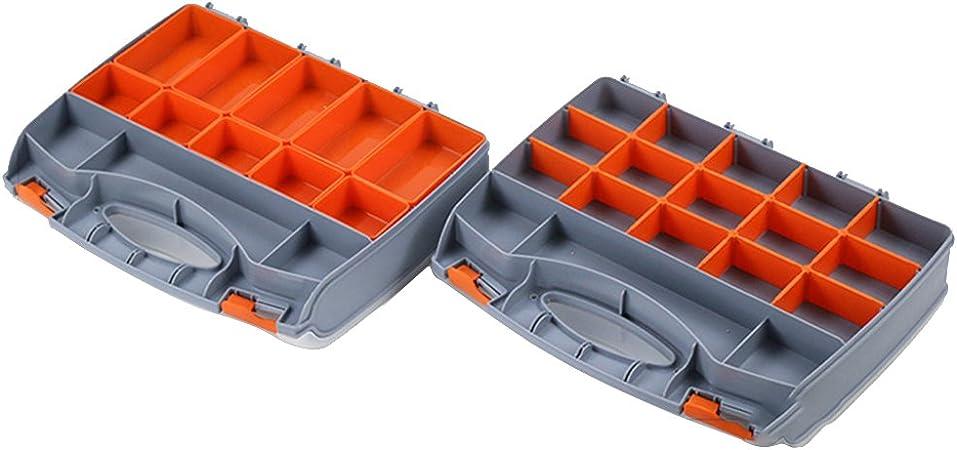 Cara de almacenamiento organizador caja de aparejos de pesca topind tornillos clavos herramienta funda de transporte caja de aparejos de pesca pesca cajas de almacenamiento: Amazon.es: Hogar