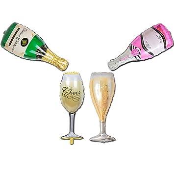 amazon champagne bottle balloon colour party balloons