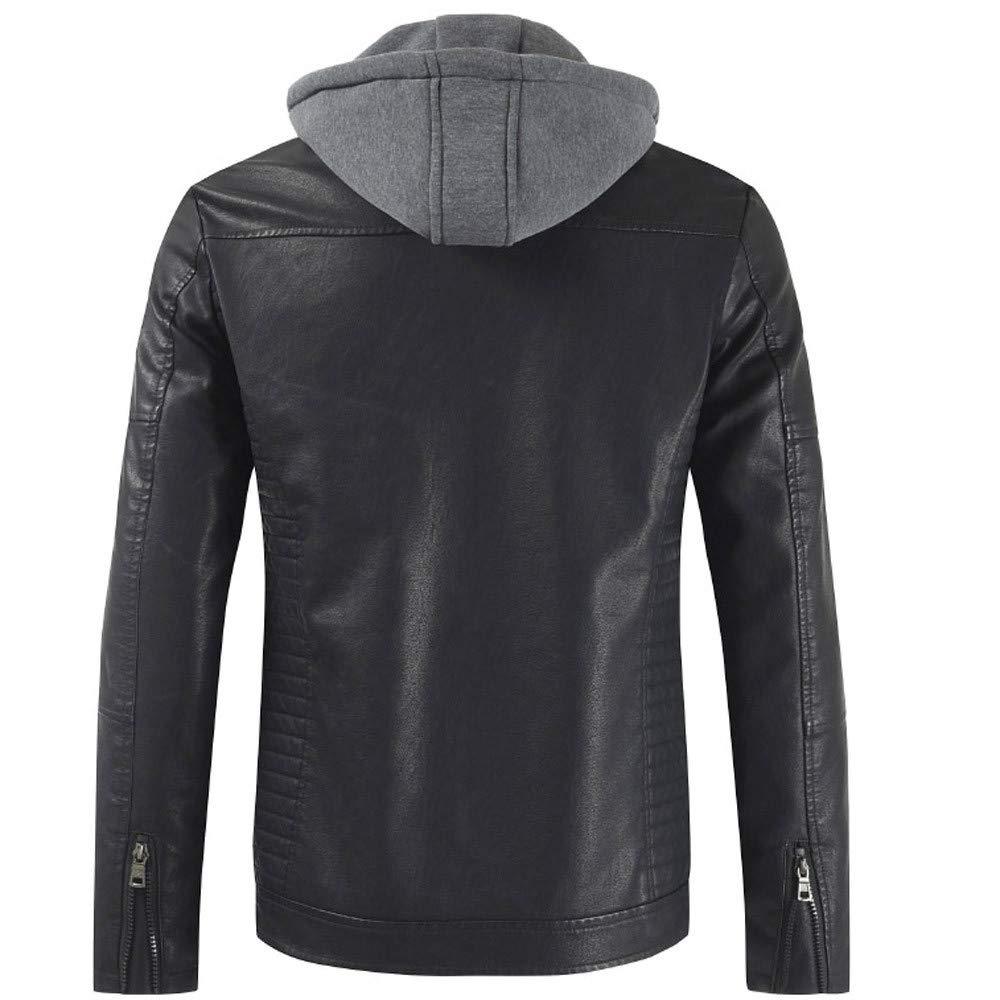 New Mens Winter Stylish Zip Moto Jacket Sherpa Lined Faux ...