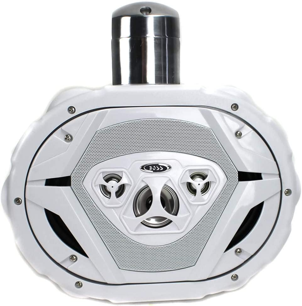 Boss MRWT69W 6x9 1100W 4-Way Marine Wake Tower Boat Waterproof Speaker White 2