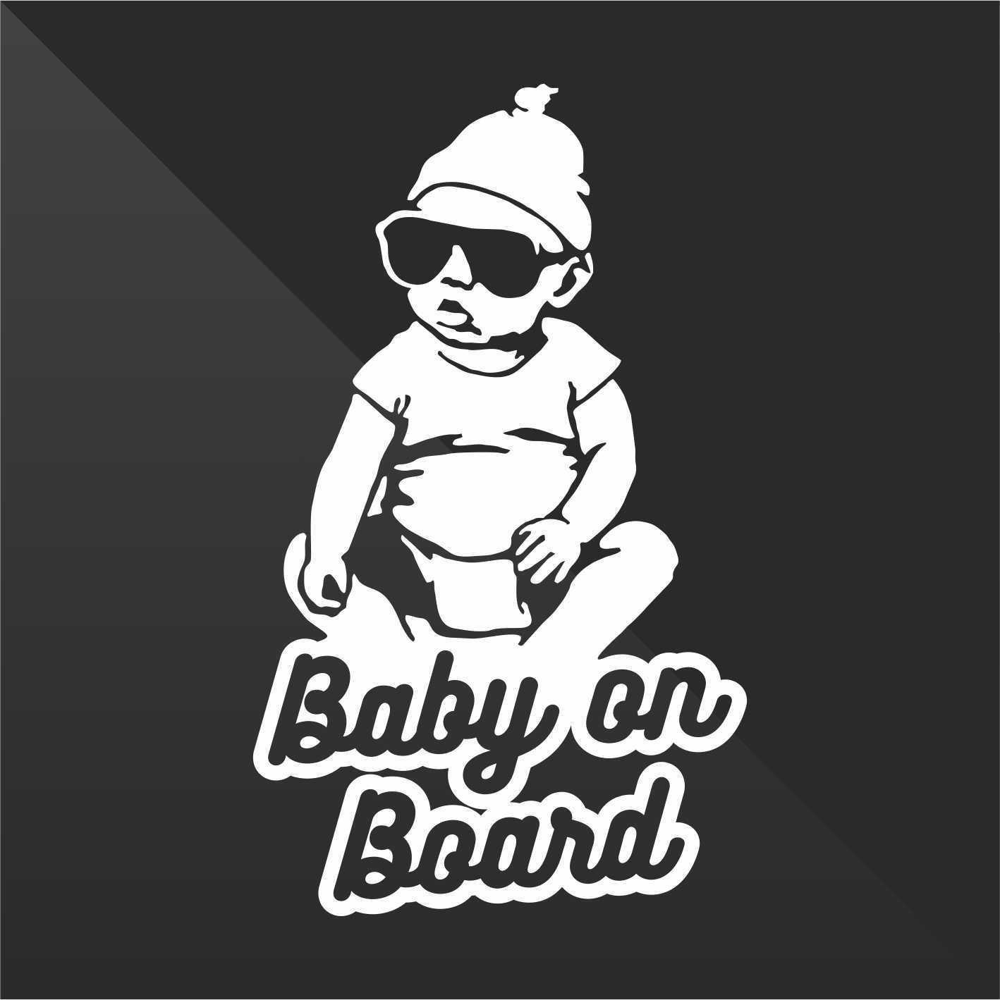 Sticker Bambini a bordo Baby on board bébé à bord bebé a bordo Baby an Bord - Decal Auto Moto Casco Wall Camper Bike Adesivo Adhesive Autocollant Pegatina Aufkleber - cm 11
