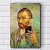 Placa Decorativa em MDF com 20x30cm - Modelo P229 - Van Gogh