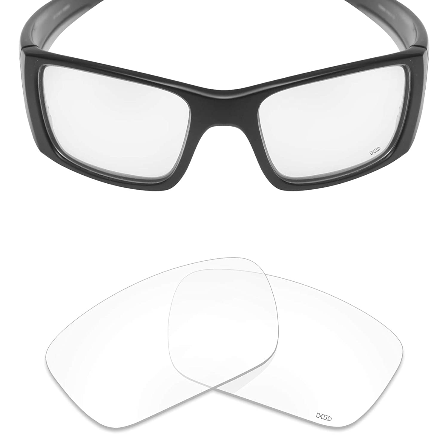 91b92adc0f097 Amazon.com  Mryok+ Polarized Replacement Lenses for Oakley Fuel Cell - HD  Clear  Clothing