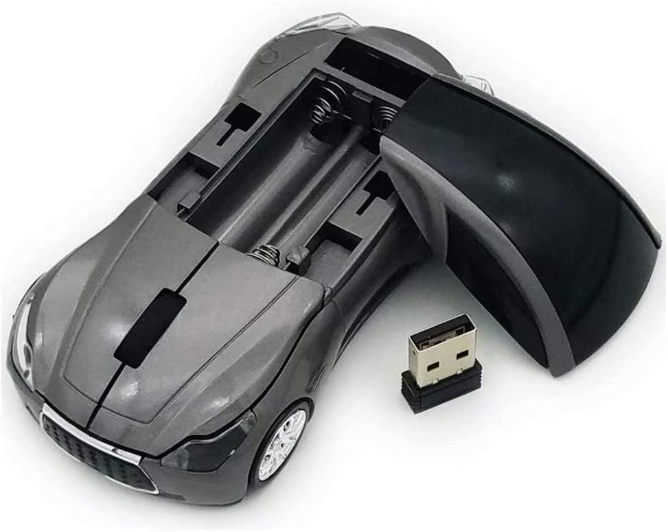 Car Wireless Mouse,2.4Ghz Computer Mouse Wireless Sport USB Gaming Mouse Mice for PC Computer Laptop Notebook