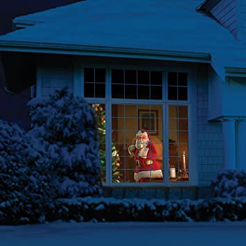 animated christmas halloween window projector kit with remote screen and stand outdoor decorating