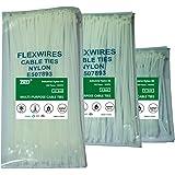 Zip Ties White - DWFeng Self Locking flexible Nylon Cable Ties 6 8 10 Inch 300 Pcs