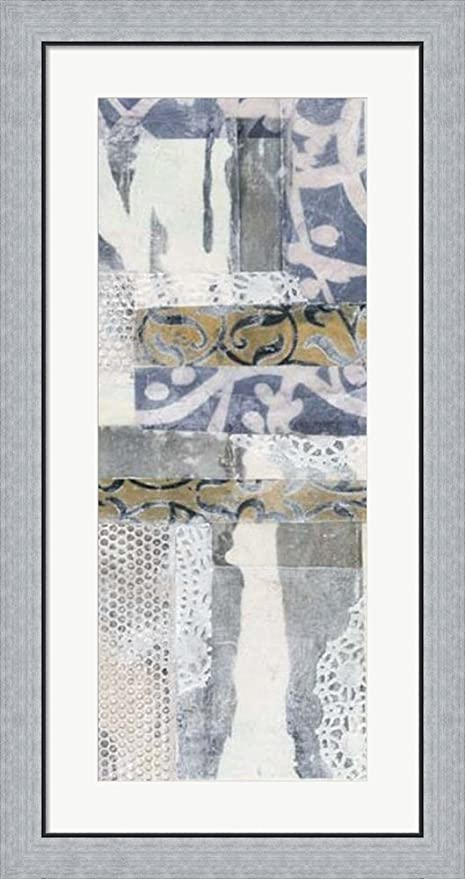 Amazon.com: Chambray & Lace II by Jennifer Goldberger Framed Art ...