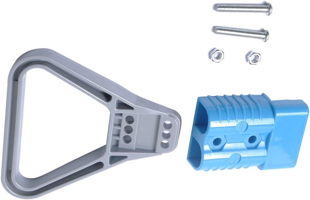 blu Dispositivi elettrici VORCOOL Batteria universale da 600 V 175 A per collegare la spina del connettore rapido per il carrello elevatore argano elettrico