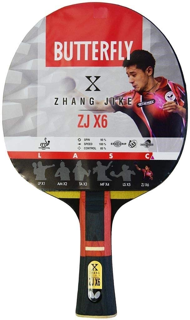 Black//Red Butterfly Zhang Jike Zjx6 Wakaba Table Tennis Bat