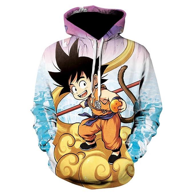 Lonimor Hombre 3D Imprimir Hoodie Pullover Sudadera Jumper Hooded Sweat Baseball Jersey Cosplay De Manga Larga Dragon Ball Goku S-XXXL: Amazon.es: Ropa y ...