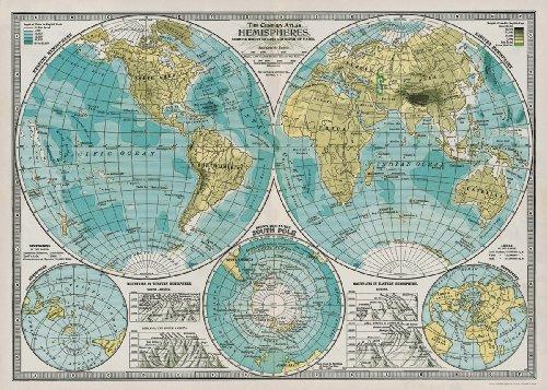 Paper - Hemispheres Vintage Map 20