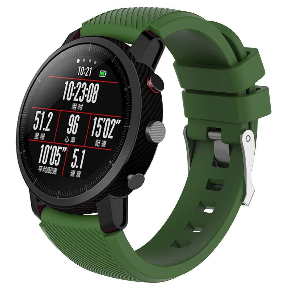dc0bf7bc8e1 Auroru Nouveaux bracelets universels Solid Color 2 Génération 1 Génération  Bracelet en silicone Bracelet de remplacement pour AMAZFIT Montre de sport  ...