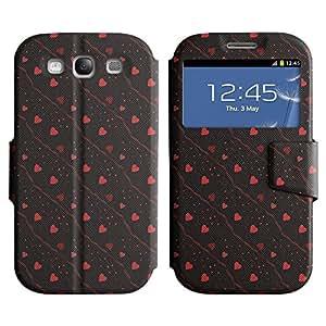 LEOCASE corazón lindo Funda Carcasa Cuero Tapa Case Para Samsung Galaxy S3 I9300 No.1004614