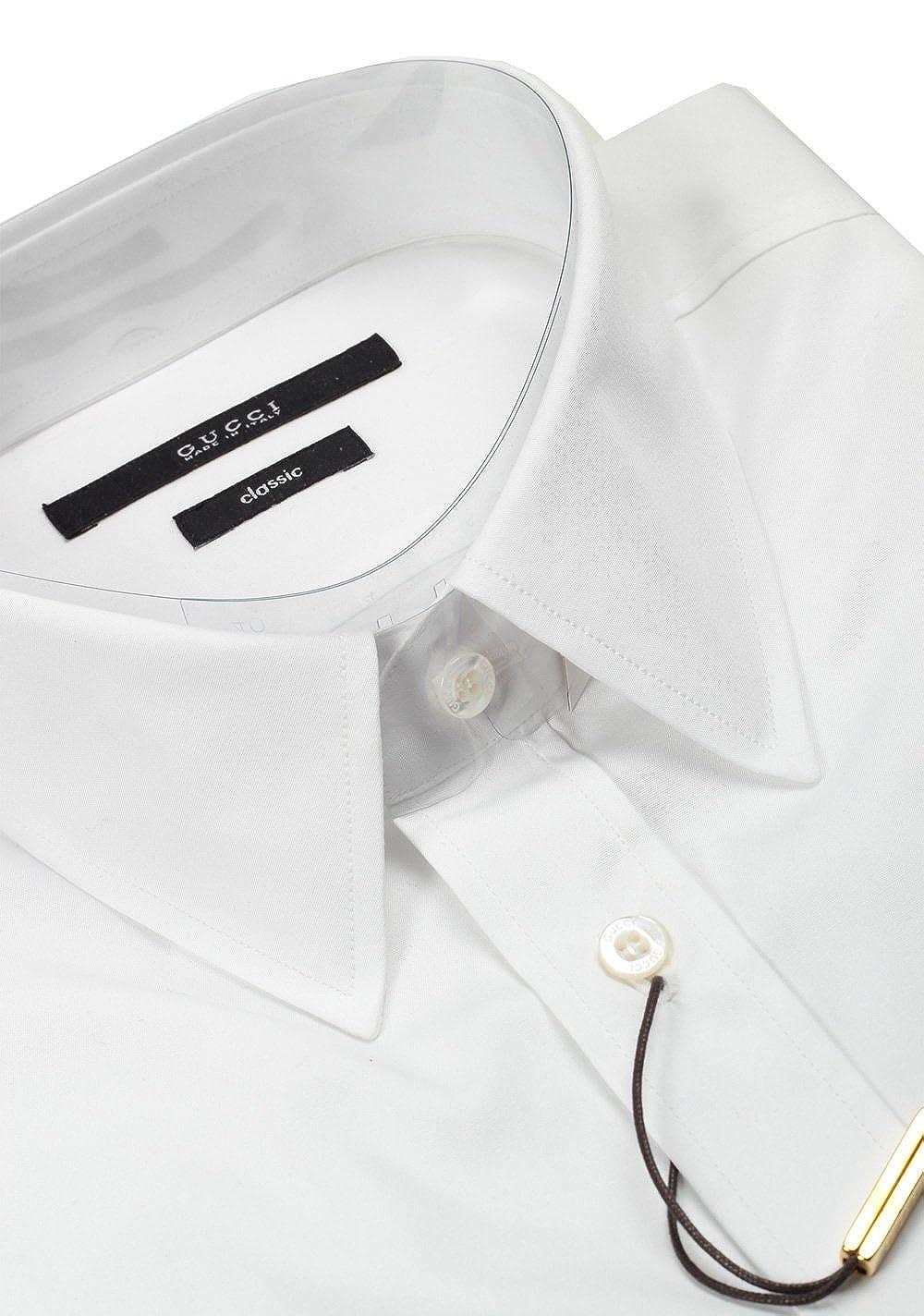 Gucci CL Solid White Dress Shirt Size 42/16, 5 U.S. Classic ...